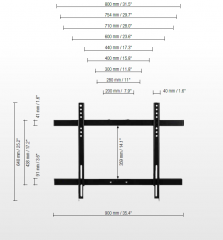 Detail image Display mount for displays with max. VESA 800 x 600 SCETAVLI